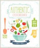 Autentyczny kulinarny plakat Zdjęcie Stock