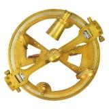 Autentyczny nautyczny astrolabium odizolowywający na bielu Obraz Royalty Free