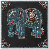 Autentyczny oryginalny handmade craftwork obraz royalty ilustracja