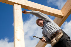 Autentyczny pracownik budowlany obraz stock