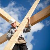 Autentyczny pracownik budowlany fotografia stock