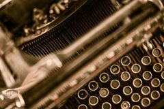 Auteur de Ghost Typewriter Photo stock
