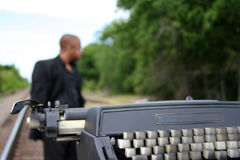 Auteur sur les pistes photos libres de droits