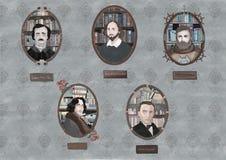 Auteurs classiques illustration stock