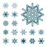 auteursillustratie in vector Sneeuwsymbool Stock Afbeelding