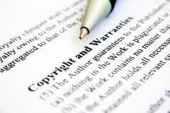 Auteursrecht en garanties Stock Afbeeldingen