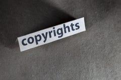 Auteursrechten royalty-vrije stock afbeeldingen