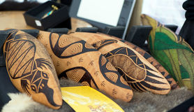 Authentic Aboriginal boomerangs Royalty Free Stock Photo