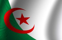 Authentic Algeria flag. Green and white authentic Algeria flag Royalty Free Stock Photo