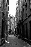Authentic alley in the city of Antwerp, Belgium Royalty Free Stock Photo