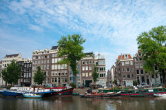 Authentic amsterdam houses Stock Images
