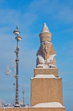 Egyptian sphynx on quay of the Neva river in Saint Petersburg, Stock Photography