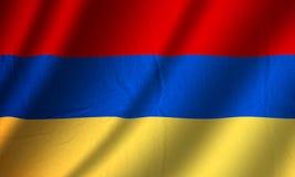 Authentic Armenia flag. Authentic colorful textile Armenia flag Stock Images