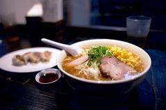 Authentic Asian Japanese Ramen Royalty Free Stock Photography
