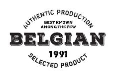 Authentic belgian product stamp Stock Image