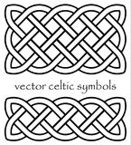 Authentic black-white vector celtic knot. Royalty Free Stock Image