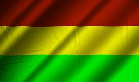 Authentic Bolivian flag. Authentic colorful textile Bolivian flag Stock Photo