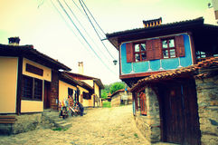 Authentic Bulgarian old houses Royalty Free Stock Images