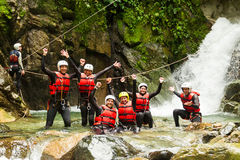 Authentic Canyoning Trip Royalty Free Stock Image