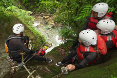Authentic Canyoning Trip Stock Photography