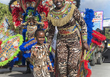 Authentic carnival in the Caribbean Stock Image