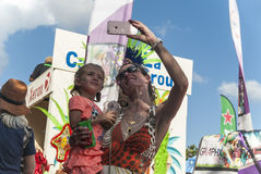 Authentic carnival in the Caribbean Royalty Free Stock Image
