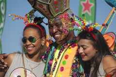 Authentic carnival in the Caribbean Royalty Free Stock Images