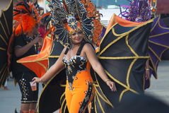 Authentic carnival in the Caribbean Stock Images