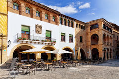 Authentic Catalan cozy streets in cities of  Spain. Stock Photos