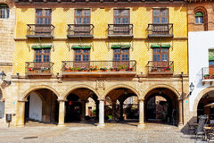 Authentic Catalan cozy streets in cities of  Spain. Stock Images