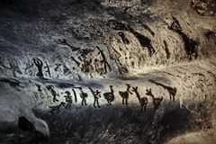Authentic cave paintings royalty free stock images