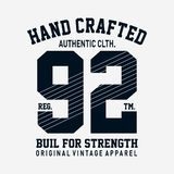 Authentic clothes print design for t shirt. And other uses - Vector illustration royalty free illustration