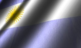 Authentic Argentina flag. Authentic colorful textile Argentina flag Royalty Free Stock Photography