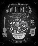Authentic cooking poster - chalkboard style. Stock Photography