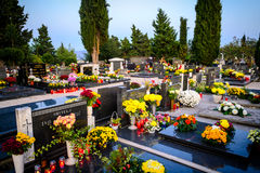 Authentic Dalmatian cemetery in Croatia Stock Image