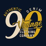Authentic denim vintage Stock Photography