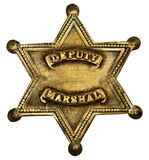 Authentic Deputy Marshall Badge. Star-shaped deputy marshall badge