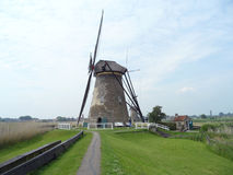 The Authentic Dutch Windmill at Kinderdijk Windmill Complex, South Holland Royalty Free Stock Photos