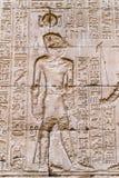 Authentic Egyptian hieroglyphs. Royalty Free Stock Photo