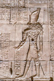 Authentic Egyptian hieroglyphs. Stock Photo