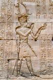 Authentic Egyptian hieroglyphs. Stock Image
