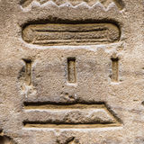 Authentic Egyptian hieroglyphs. Stock Images