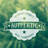Authentic emblem, vector badge Stock Photos