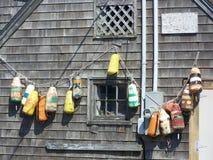 Authentic fishing buoys Stock Photos