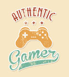Authentic gamer Royalty Free Stock Image