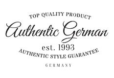 Authentic german product stamp. Grunge design with dust scratches. Effects can be easily removed for a clean, crisp look. Color is easily changed Stock Photography