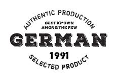 Authentic german product stamp. Grunge design with dust scratches. Effects can be easily removed for a clean, crisp look. Color is easily changed Royalty Free Stock Image