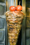 Authentic greek gyro athens greece. Meat cooking on skewer for authentic greek gyro sandwich as photographed in athens greece Royalty Free Stock Image