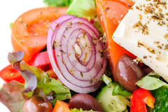 Authentic greek salad Stock Images