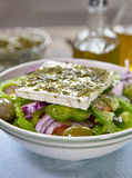 Authentic greek salad Stock Photography